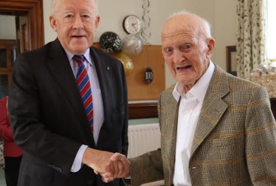 RAF veteran celebrates 100th birthday with a reunion with siblings
