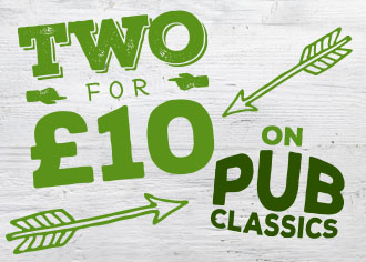 Enjoy great savings from Marston's with Two Meals for £10