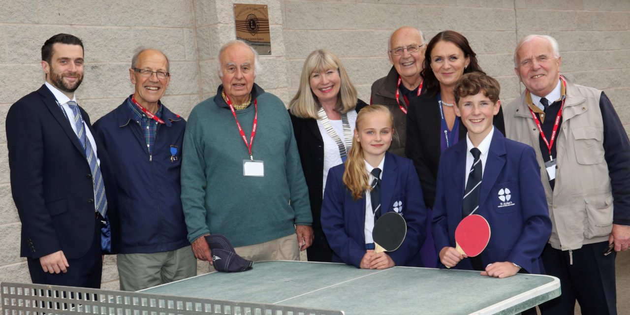 Lions' table tennis gift receives roar of approval from students