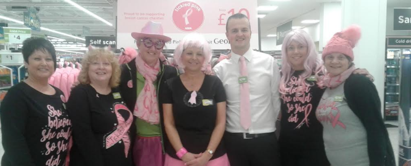 Gosforth supermarket colleagues inspire fundraising for Breast Cancer charity