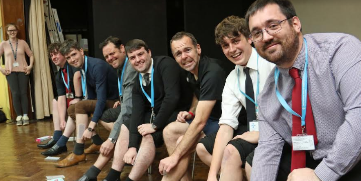 Teachers give sixth formers a leg up with charity wax fundraiser