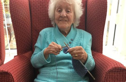 Elderly knit neonatal blankets for North Tees Hospital