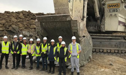 Newcastle University Students on Site at Shotton to Mine Careers Information
