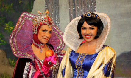 They're Behind You – Panto Cast take to the Stage for Launch