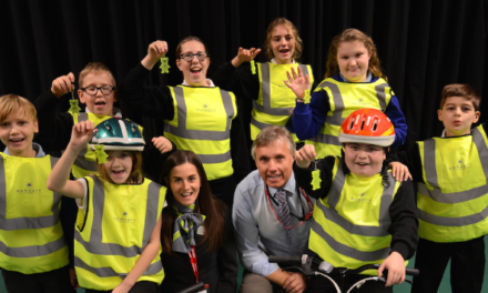 Be safe, be seen! Local housebuilder educates Morpeth pupils on the importance of bike safety