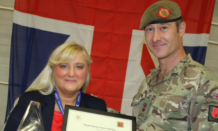 Award for tutor after she helps an army of soldiers read and conquer numbers