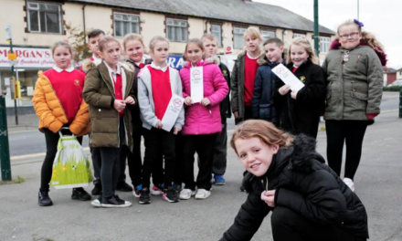 Grangetown Primary children tackling second hand smoke