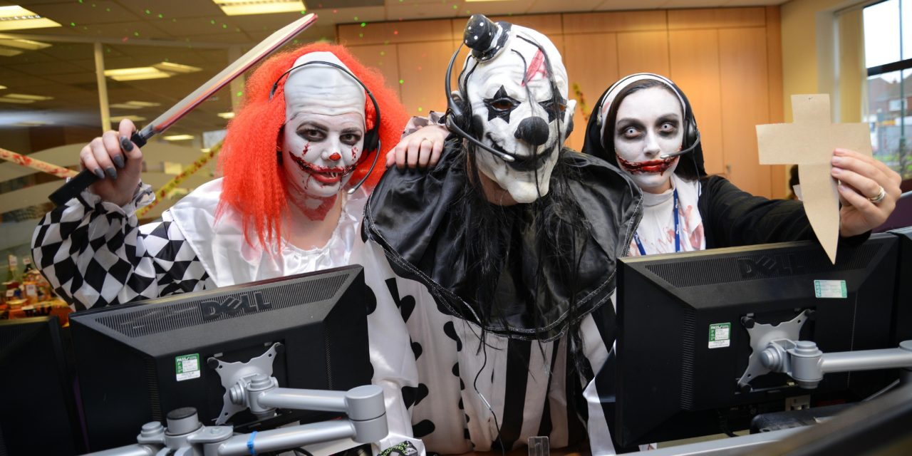Workers get into the spirit of Halloween in aid of charity