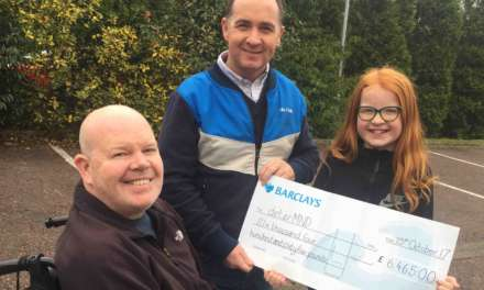 Rockliffe Hall raises £6464 for Motor Neurone Disease