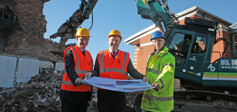 Demolition marks start of new library development at RGS
