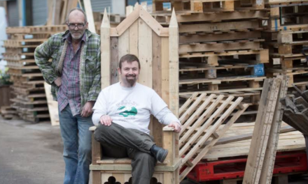 Christmas comfort for Tynemouth Santa in re-cycled throne