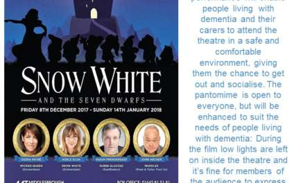 DEMENTIA FRIENDLY PANTO AT MIDDLESBROUGH THEATRE