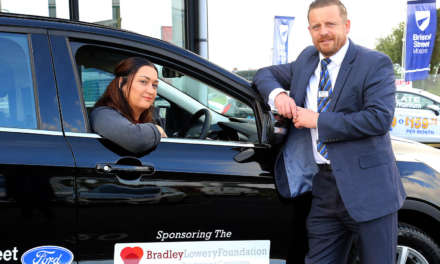 Bristol Street Motors Hartlepool helps the Bradley Lowery Foundation to reach local children in need