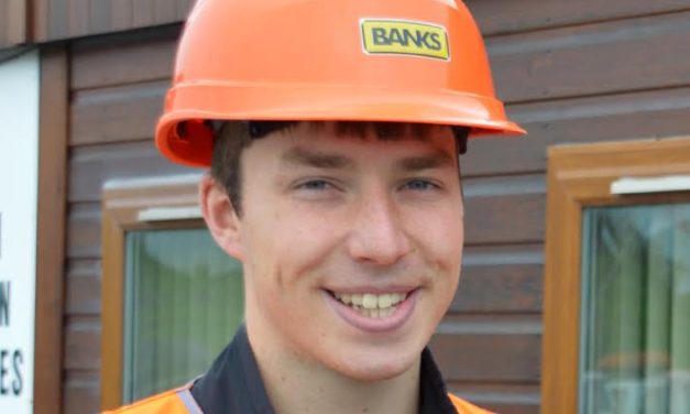 Lewis Digs in to Win New Banks Mining Northumberland Apprenticeship