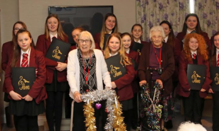 School choir entertains elderly with festive treat