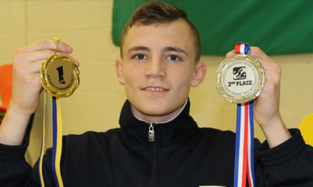 Rhys punching for Olympic and pro glory