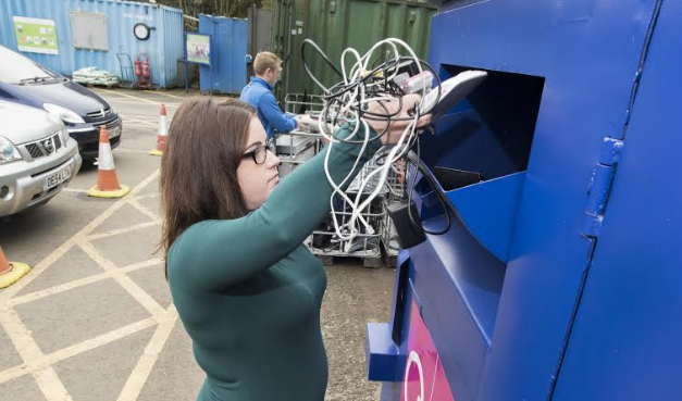 Electrical recycling banks now at household waste recycling centres