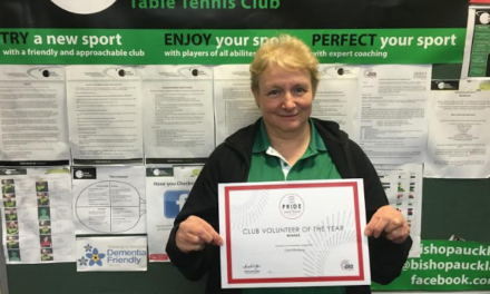 Pride of Table Tennis Award for local Volunteer