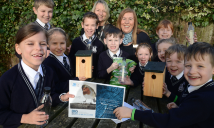 Housebuilder and local school children flock together to support wildlife