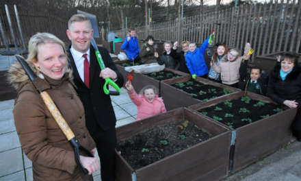 Tyne Tunnel donation helps community garden to blossom