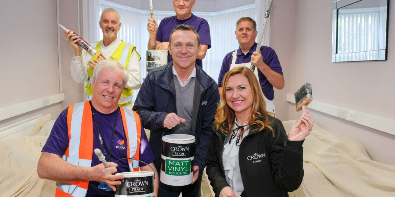 Mitie and Crown Paints muck in for Westfield Farm
