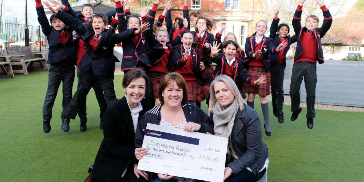 Yarm Preparatory School remembers Rebecca with £2500 donation