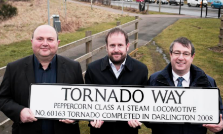 Road naming ceremony puts Tornado on the Darlington map