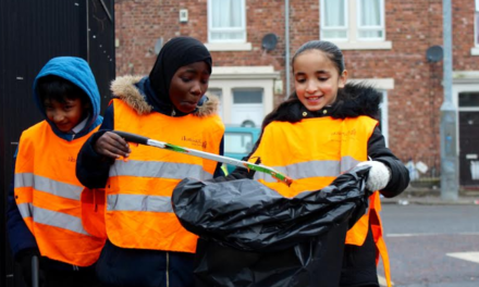 Pupils give Arthur's Hill streets early Spring clean