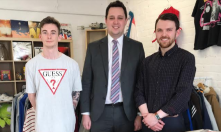 Tees Valley Mayor Visits Fashion Start-up taking Online World by Storm