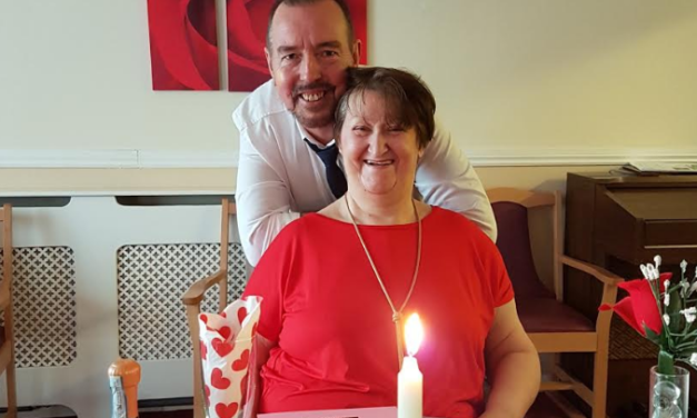 Pelton care home's special Valentine's meal for residents