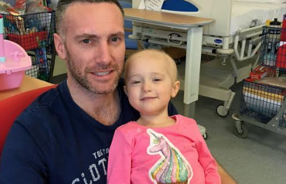 Daughter's diagnosis inspires dad to run half marathon for cancer charity