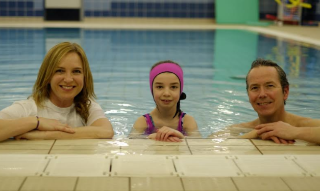 Things going swimmingly for disabled Eva after charity donation