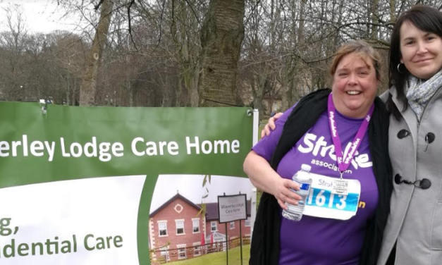 Care home worker completes 5km for Stroke Association