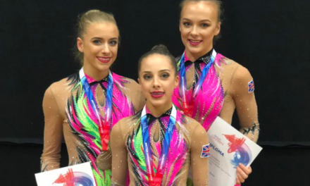 Silver Medal Bags Place at Senior World Championships for Deerness Gymnastics Trio
