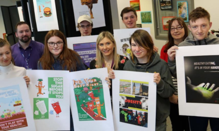 Students devise art campaign for healthy weight