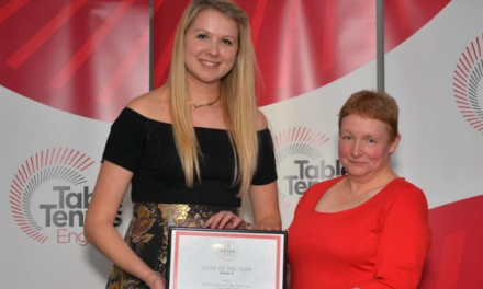 Runners Up in National Awards for Bishop Auckland Table Tennis Club
