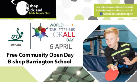 World Table Tennis Day at Bishop Auckland Table Tennis Club