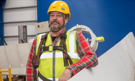 Ex-Concert Rigger Climbs Renewable Energy Skill Ladder on Northumberland College's Wind Turbine Course