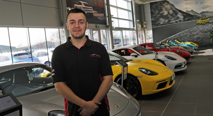 Apprentice hits the fast lane with Porsche