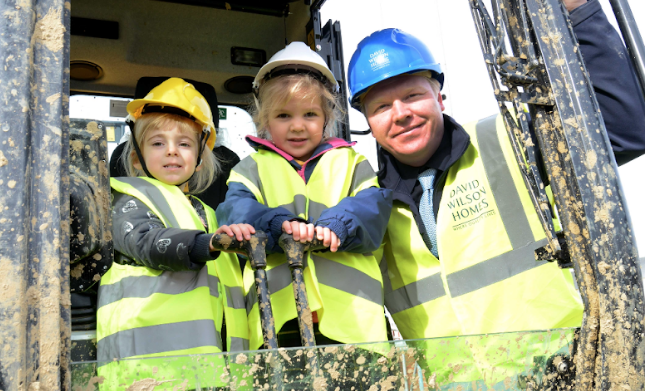 Local nursery learn how houses are built at Durham development
