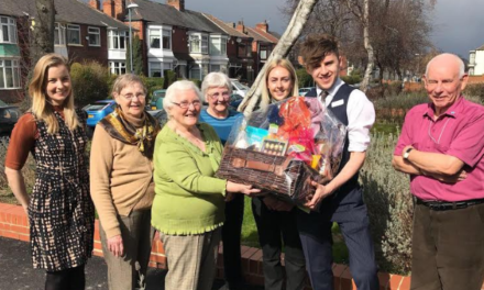 M&S Middlesbrough surprises local community group with Easter treats