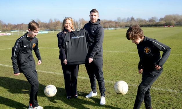 Football Club on the right track with Sponsorship from Miller Homes