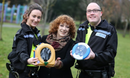 Community defibrillator installed in Ryton thanks to Story Homes and Northumbria Police