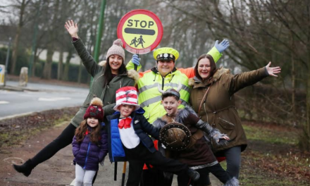 Surprise assembly for well-loved 'lollipop' lady