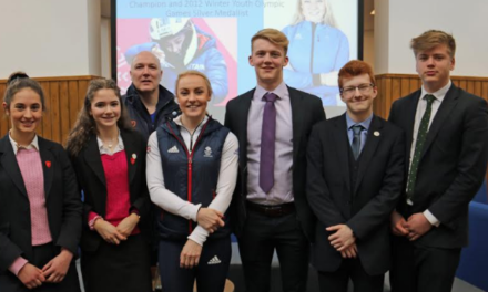 Olympian bob sleigher inspires young athletes