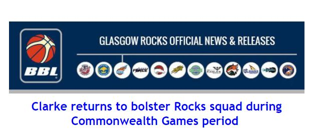 Clarke returns to bolster Rocks squad during Commonwealth Games period