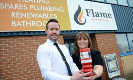 Flame hoping to 'score' £1,500 donation for North East cancer charity