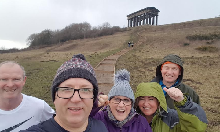 Friends join up for charity Hadrian's Wall trek