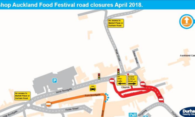 Road closures during Bishop Auckland Food Festival