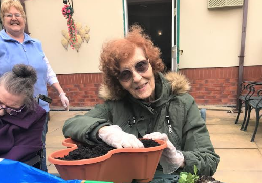 Green fingered care home residents enjoy gardening therap